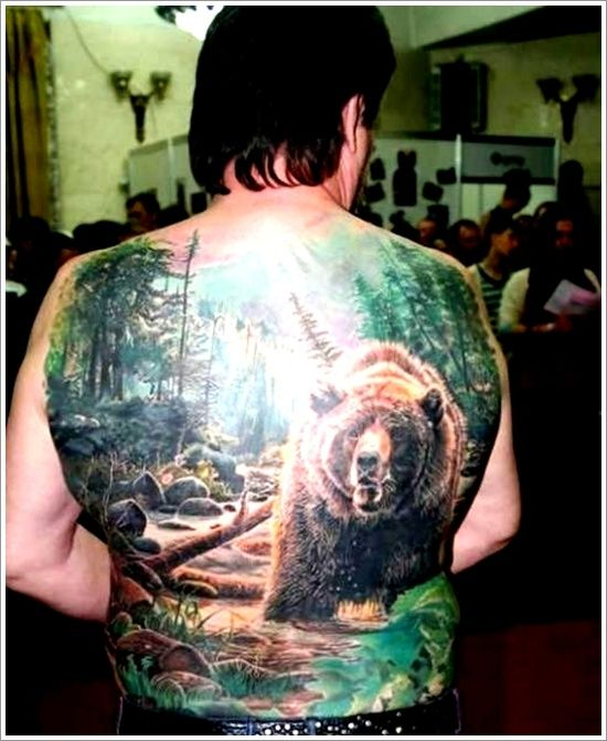 Big Bear Tattoo Design And Meaning For Men On Back Image Ideas And Designs
