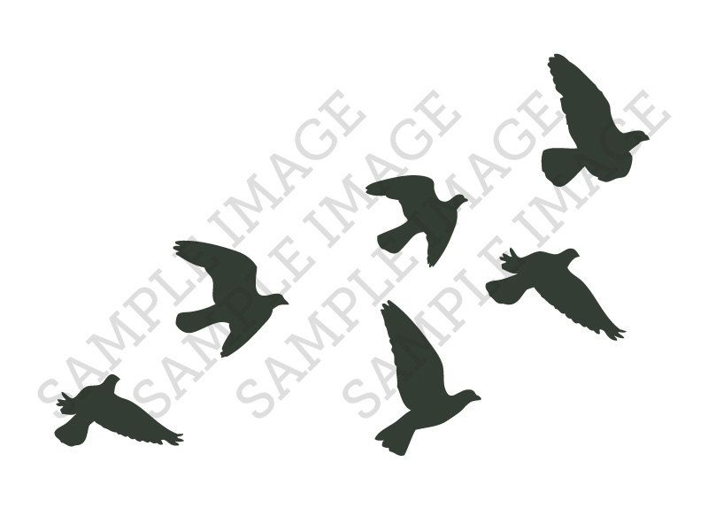 Popular Items For Bird Silhouettes On Etsy Tattoo Ideas Ideas And Designs