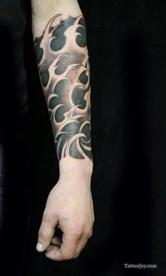 Black Waves Tattoo And Add Shades Of Blue Tattoos Ink Ideas And Designs
