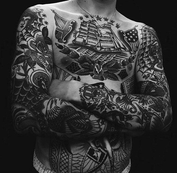 60 Traditional Tattoo Sleeve Designs For Men Old School Ideas And Designs