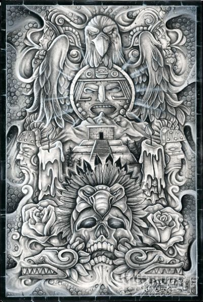 Lowrider Arte Cover Magazine Pic Carving Mexican Art Ideas And Designs