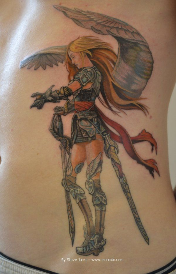 Pin By Hot Coffey On Supernatural Angel Warrior Tattoo Ideas And Designs