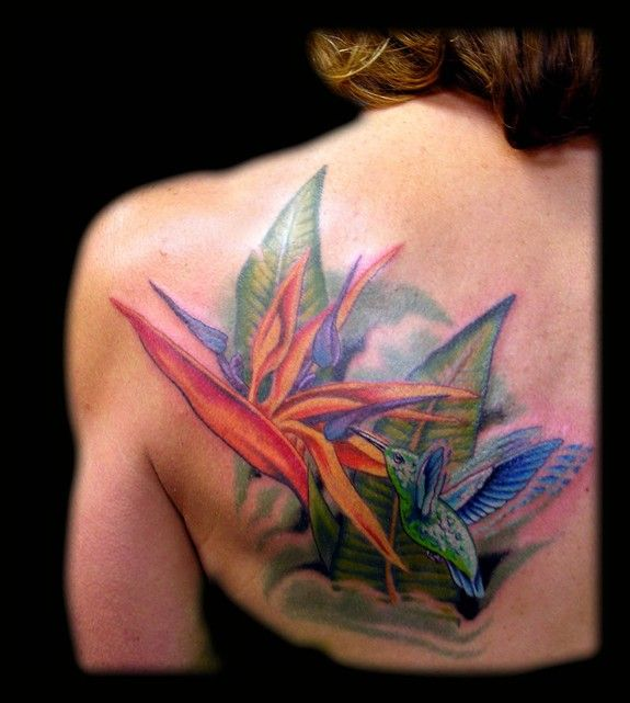 Birds Of Paradise Exotic Flower Aaron Goolsby Tattoos Ideas And Designs