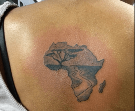 10 Tattoos Of African Continent Ink African Tattoo Ideas And Designs