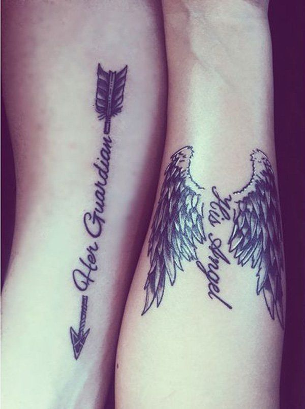30 Couple Tattoo Ideas Wing Tattoos Cute Couple Ideas And Designs