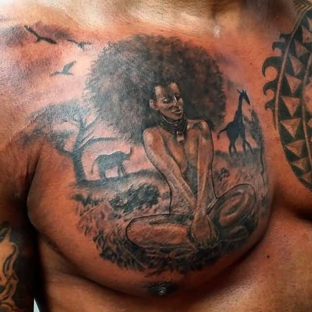 African Female Warrior Tattoo African Lady Tattoo In Map Ideas And Designs