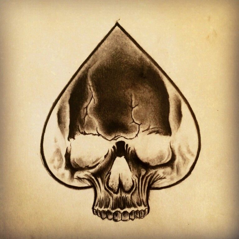 Skull Ace Of Spades Tattoo By Junkiz Art Hobby Ideas Ideas And Designs