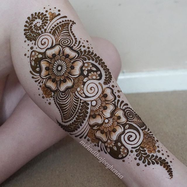 I Haven T Had A Huge Leg Henna On Myself For The Longest Ideas And Designs