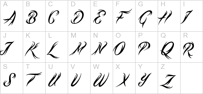 Tribal Script Preview All Inked Up Fonts Lettering Ideas And Designs