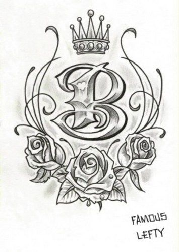 Tattoo Of The Letter B Google Search Tattoos B Ideas And Designs