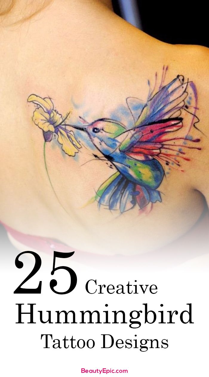 25 Creative Beautiful Hummingbird Tattoo Designs And Ideas And Designs