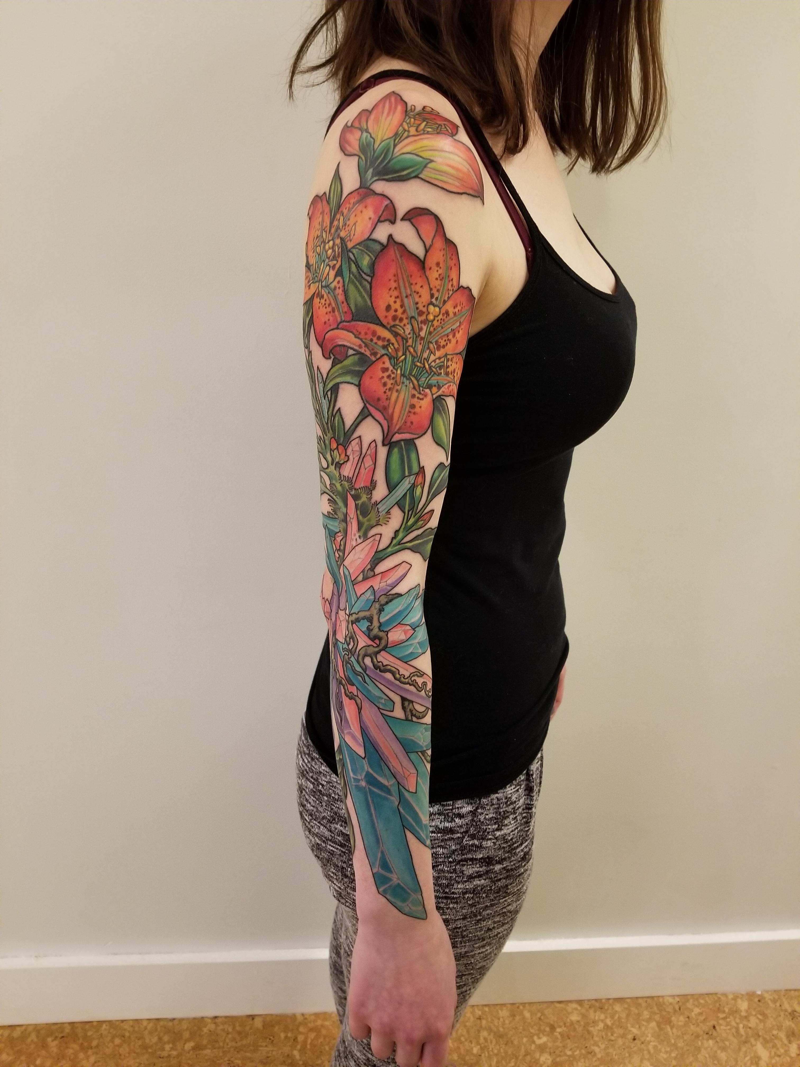 Chrystals And Flowers Be Me Jeff Croci Of 7Th Son Tattoo Ideas And Designs