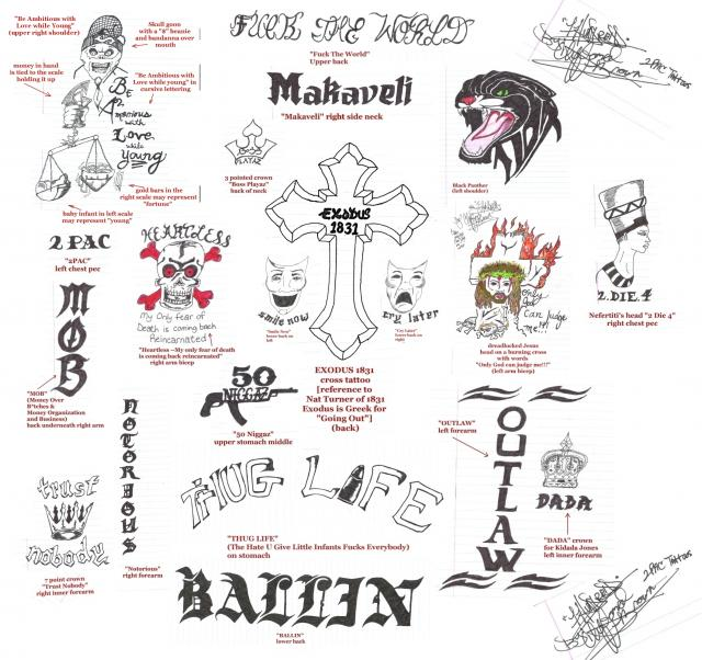 Tupac S Tattoos What Is The Meaning Of 2Pac S Tattoos Ideas And Designs
