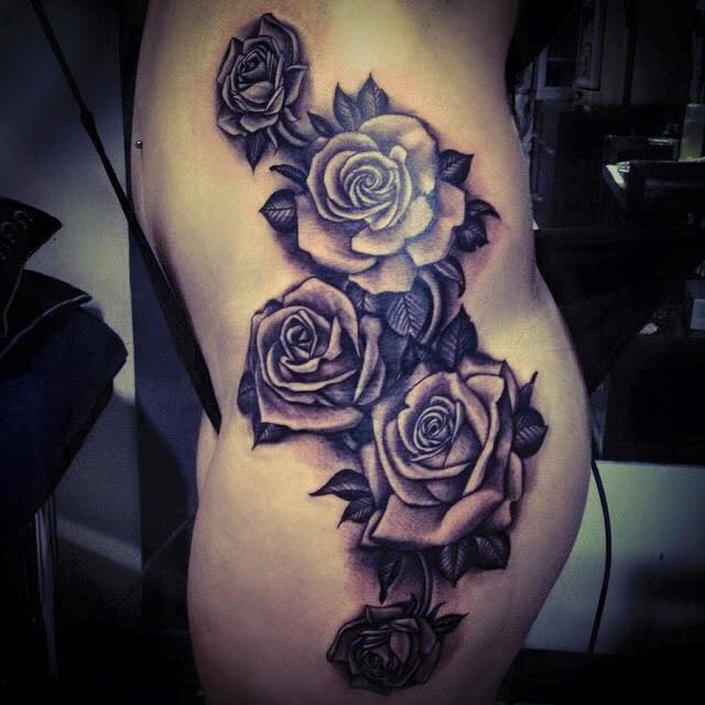 Rose Tattoos Done In Bali Line Tattoos Red Roses Ideas And Designs
