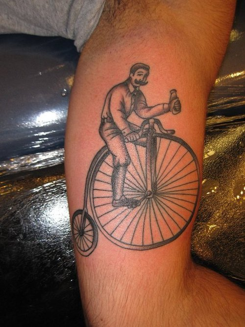 Vintage Bicycle Tattoo Rockabelle Bombshell Ideas And Designs