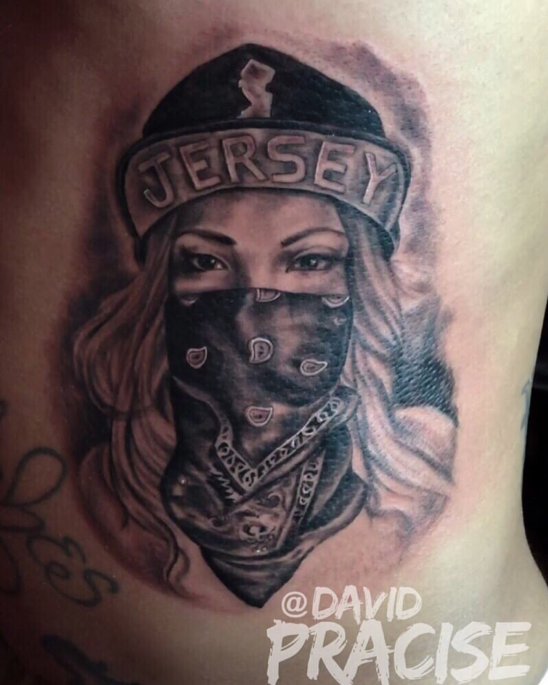 Jersey Girl Tattoo Done By Davif Pracise Yelp Ideas And Designs