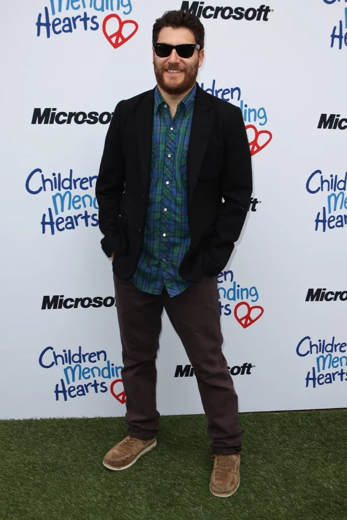 Adam Pally Sported A New Beard As He Came Out To Support Ideas And Designs