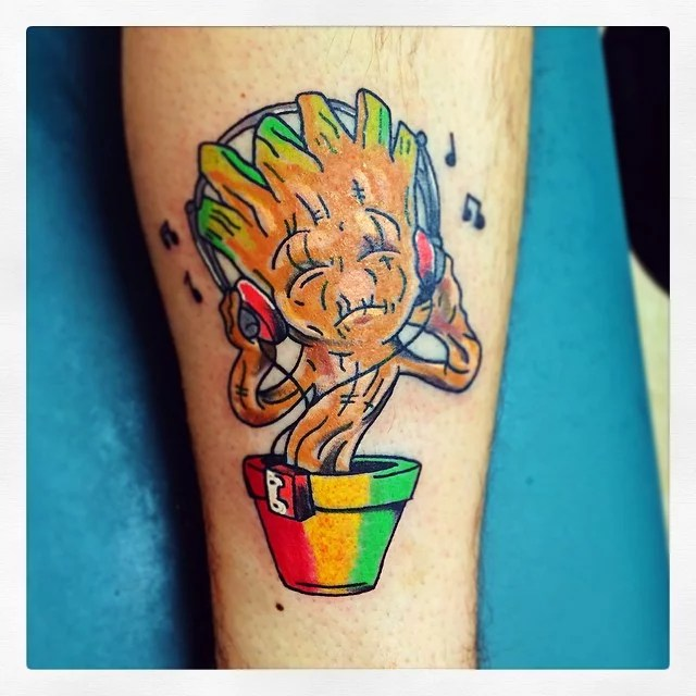 Rasta Groot Tattoos For Geeks Popsugar Tech Photo 7 Ideas And Designs