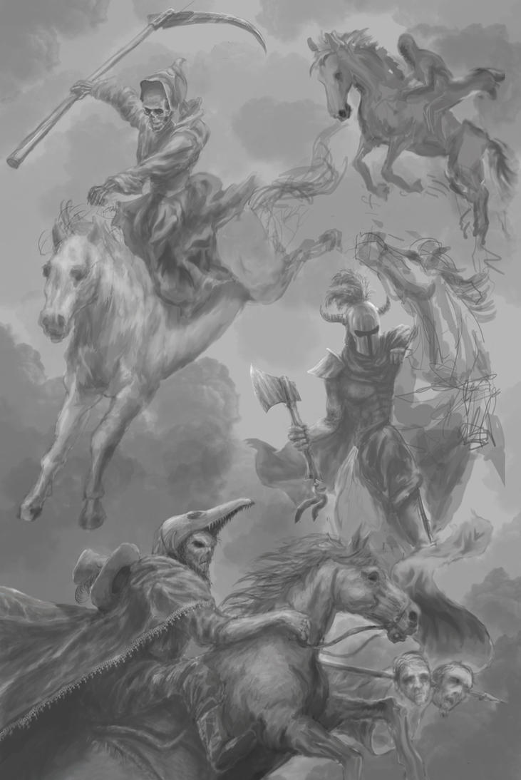 Wip The Four Horsemen By Entar0178 On Deviantart Ideas And Designs