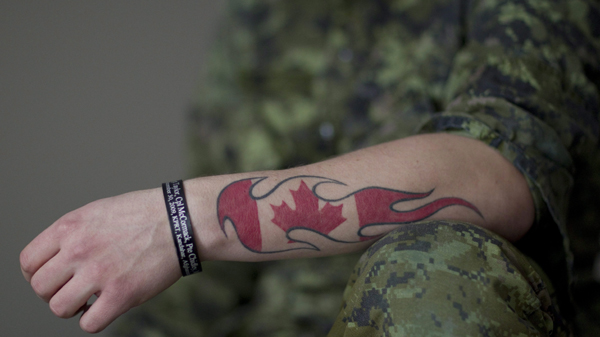 Canadian Flag Tattoo On Hand Writing Tattoo Ideas And Designs