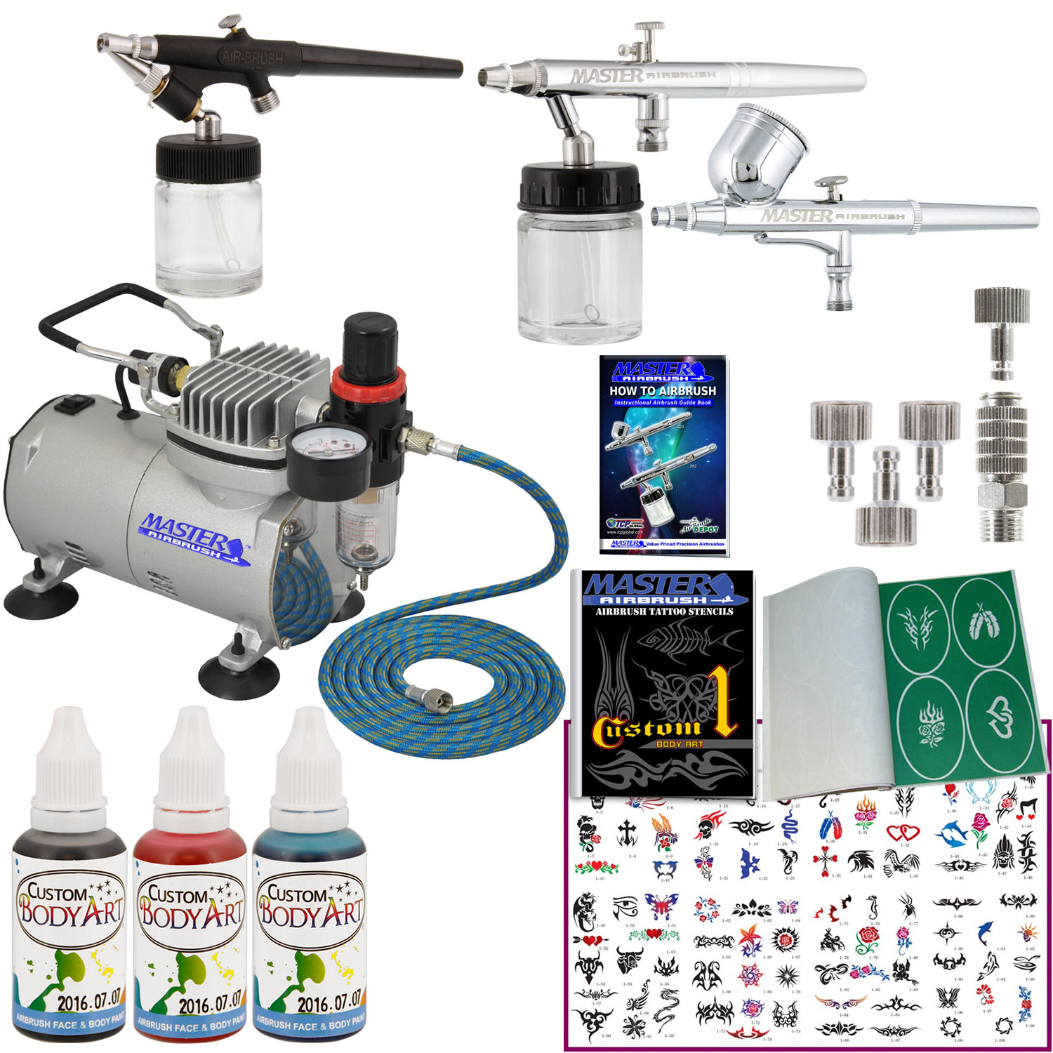 3 Airbrush Temporary Tattoo System Air Compressor Kit Body Ideas And Designs