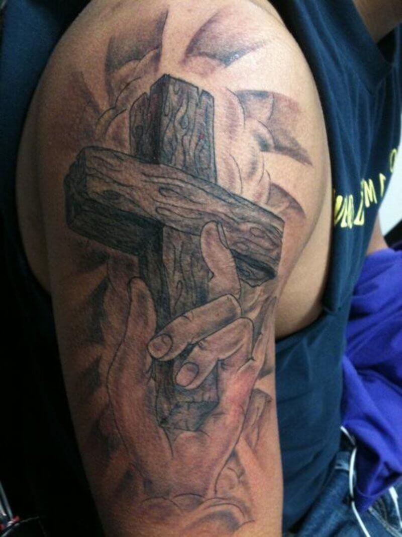56 Best Cross Tattoos For Men Improb Ideas And Designs