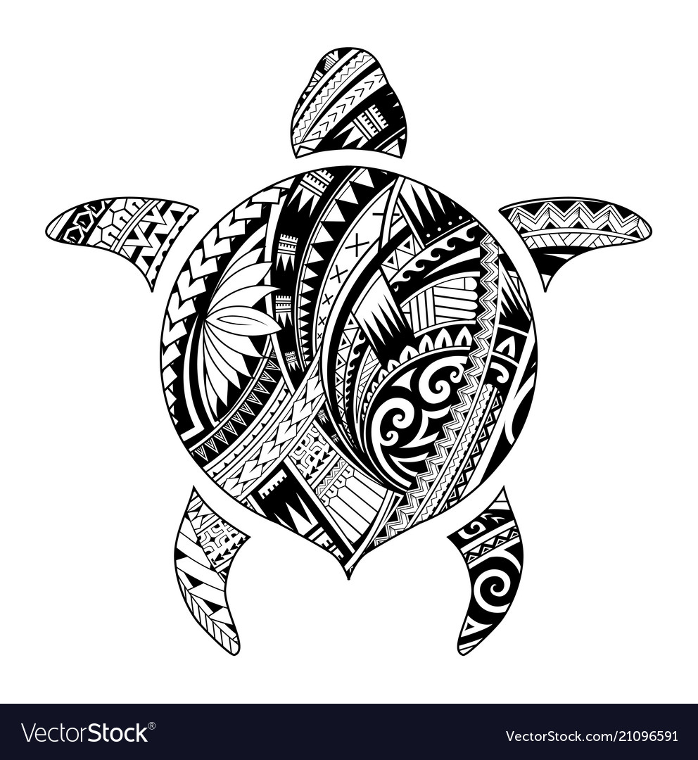 Tribal Tattoo For Aboriginal Turtle Shape Vector Image Ideas And Designs