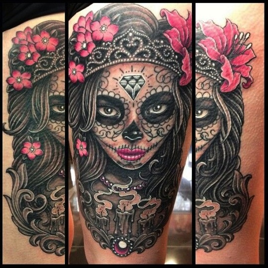 What Nice Tattoos Sugar Skull Tattoo Bravo Shivor Ideas And Designs
