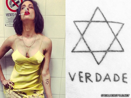 Asia Argento Jewish Star Portuguese Writing Forearm Tattoo Steal Her Style Ideas And Designs