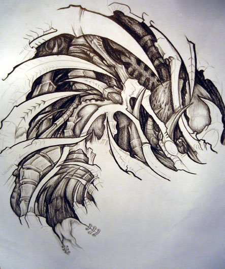 Biomechanic Tattoo Design Tattoo Picture Photos And Ideas And Designs