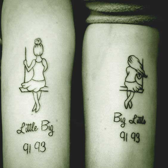 55 Heart Melting Sister Dedicated Tattoos Designs Ideas Ideas And Designs