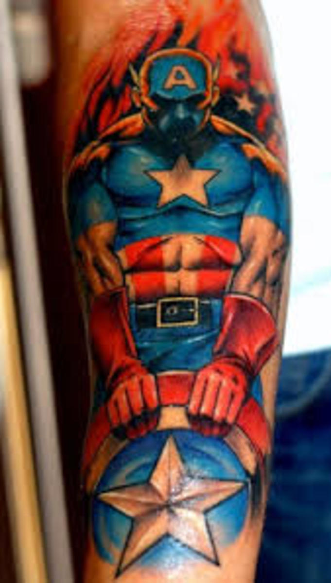 Captain America Tattoo Designs And Meanings Captain Ideas And Designs