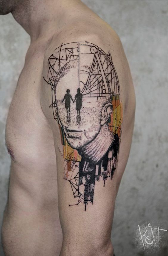 40 Artistic Abstract Tattoos Amazing Tattoo Ideas Ideas And Designs