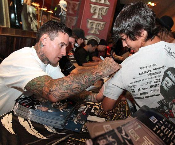 Carey Hart Pink Pauly D At Hard Rock Hotel Casino In Ideas And Designs