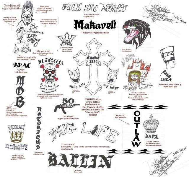 2Pac – 2Pac S Tattoos Lyrics Genius Lyrics Ideas And Designs