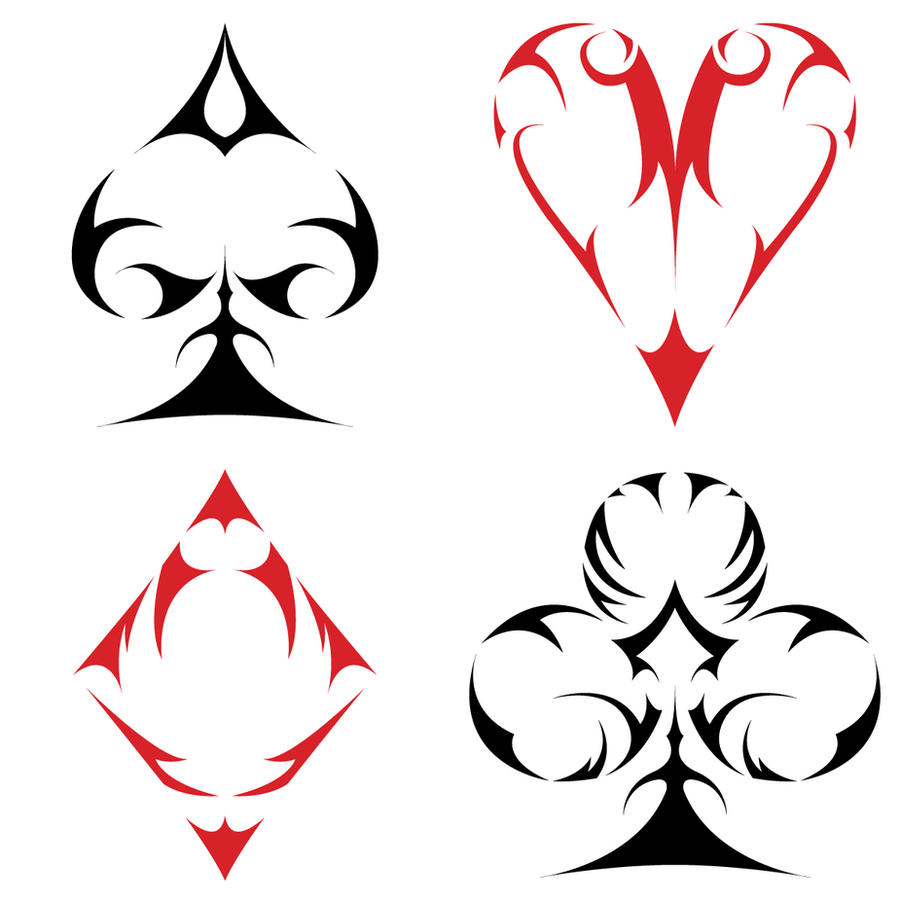 Tribal Card Suits By Aroreforlife On Deviantart Ideas And Designs