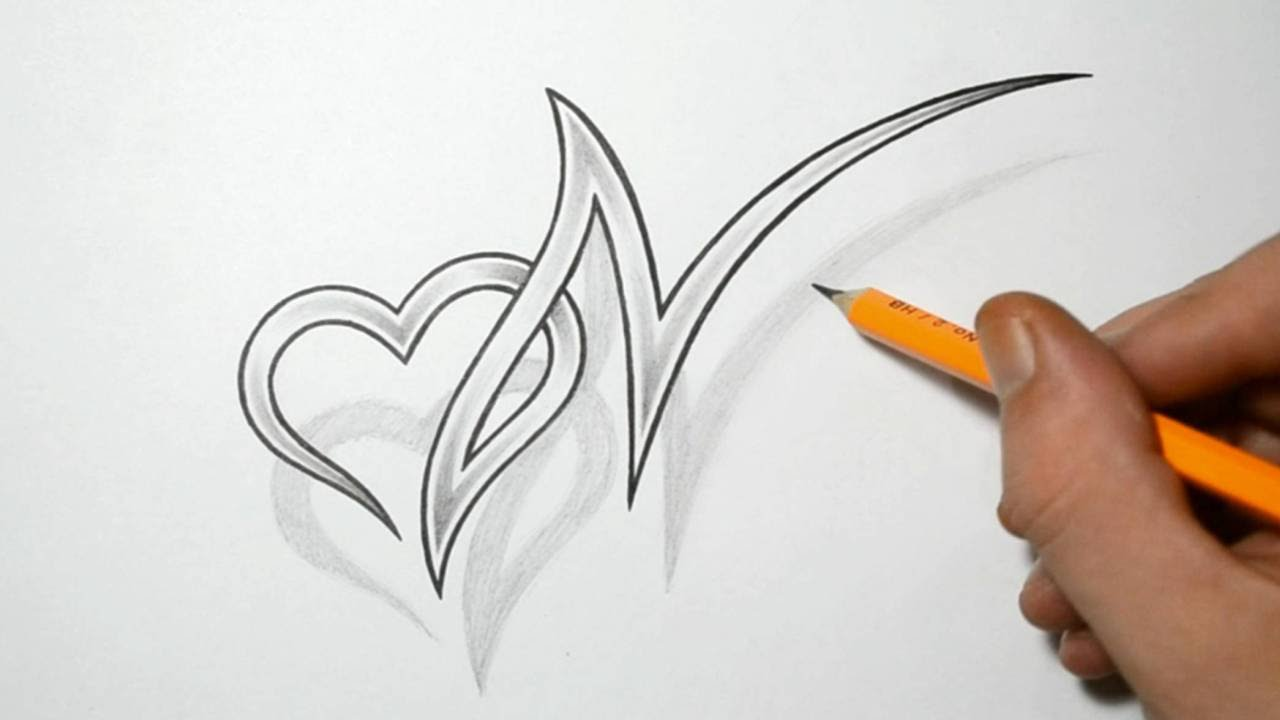 Letter N And Heart Combined Tattoo Design Ideas For Ideas And Designs
