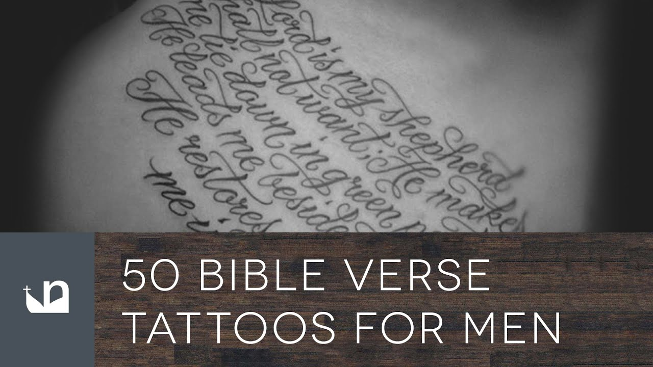 50 Bible Verse Tattoos For Men Youtube Ideas And Designs