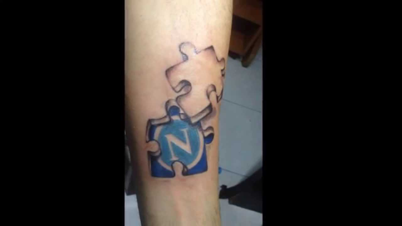 Tattoo 3D Puzzle Napoli S C N Youtube Ideas And Designs