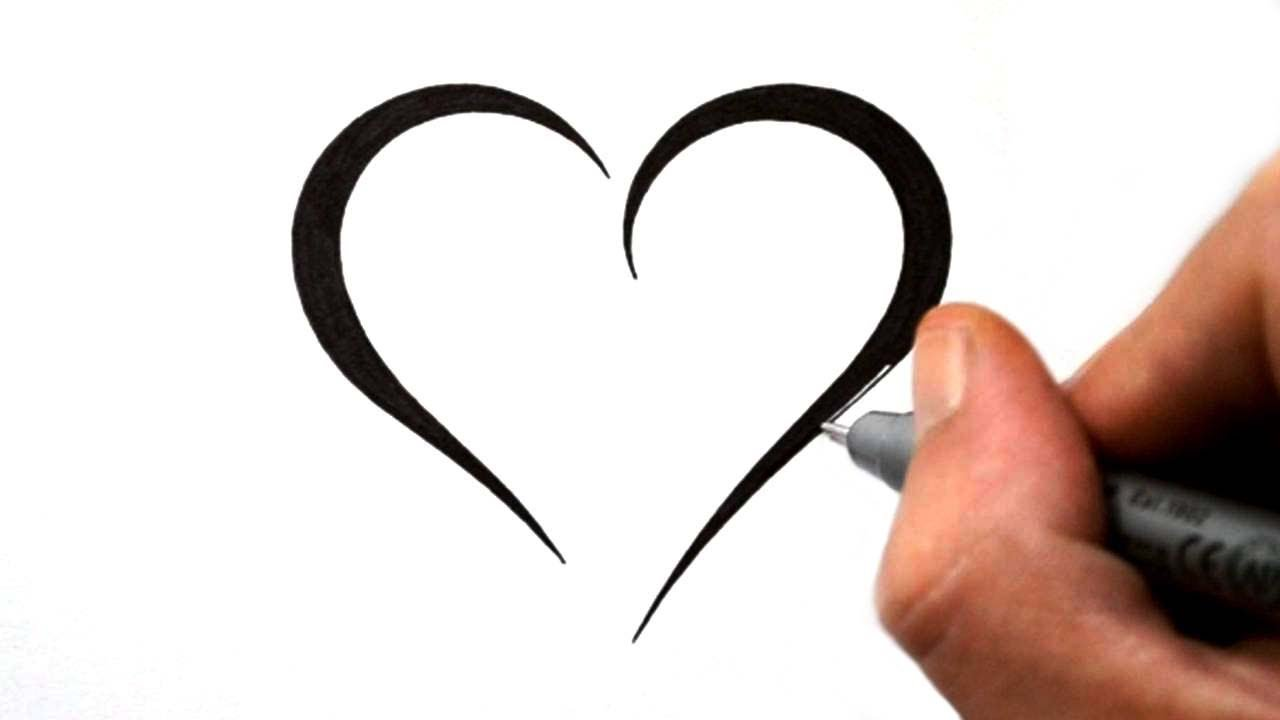 How To Draw A Simple Tribal Heart Tattoo Design 4 Youtube Ideas And Designs
