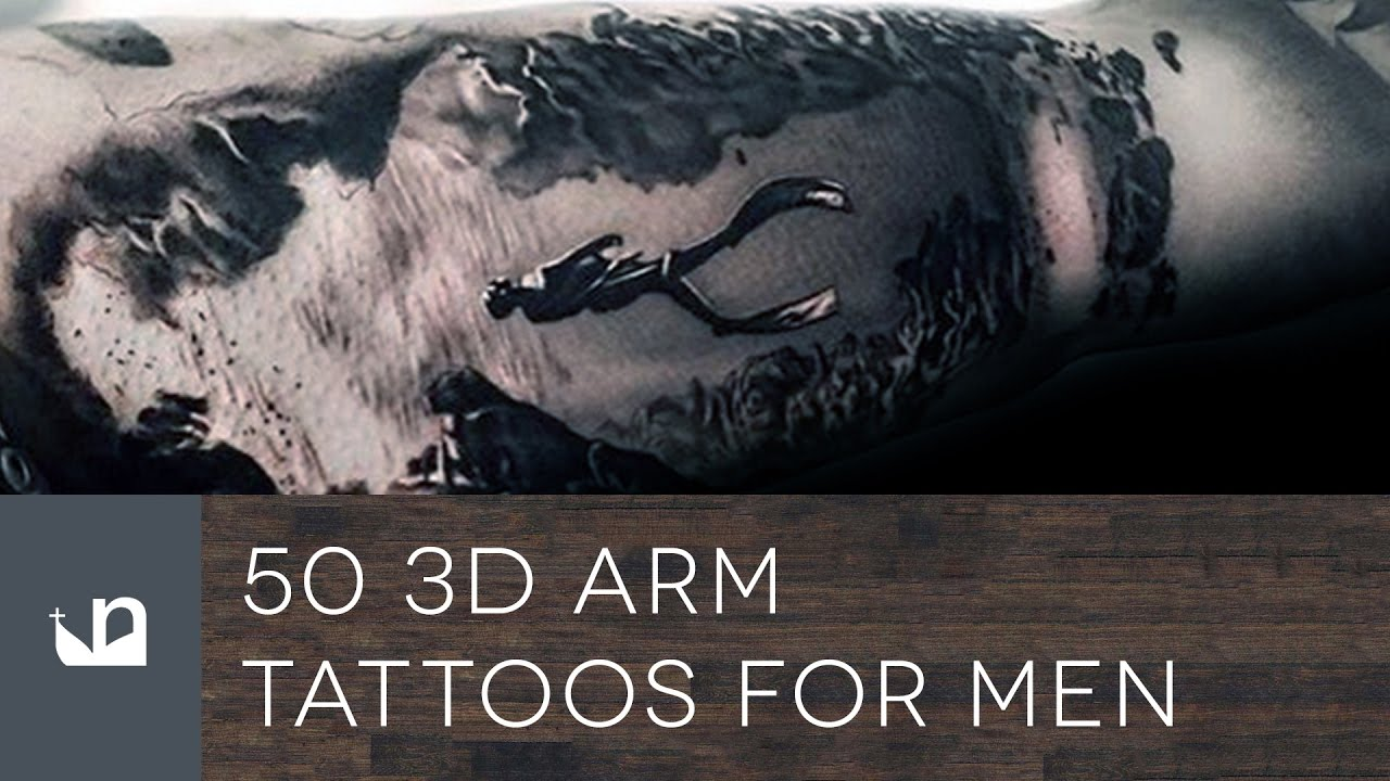 50 3D Arm Tattoos For Men Youtube Ideas And Designs