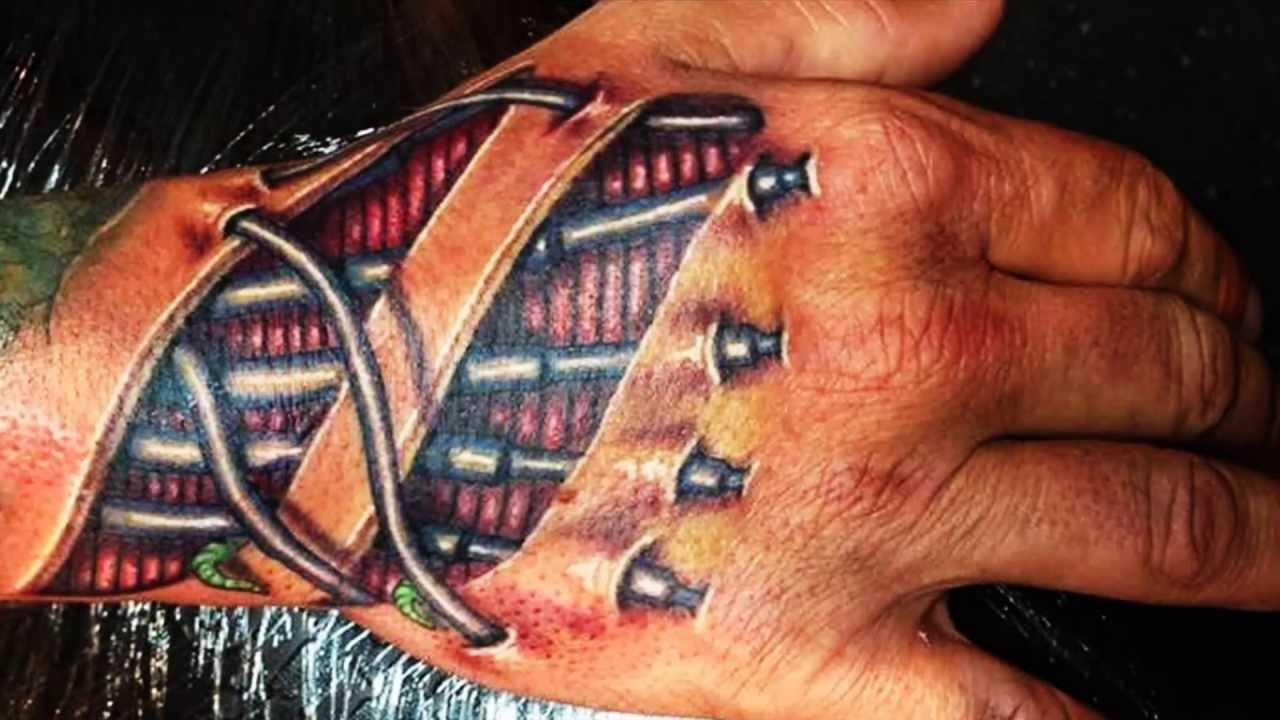 Best 3D Tattoos 3D Hand Tattoo Designs Part 1 Youtube Ideas And Designs
