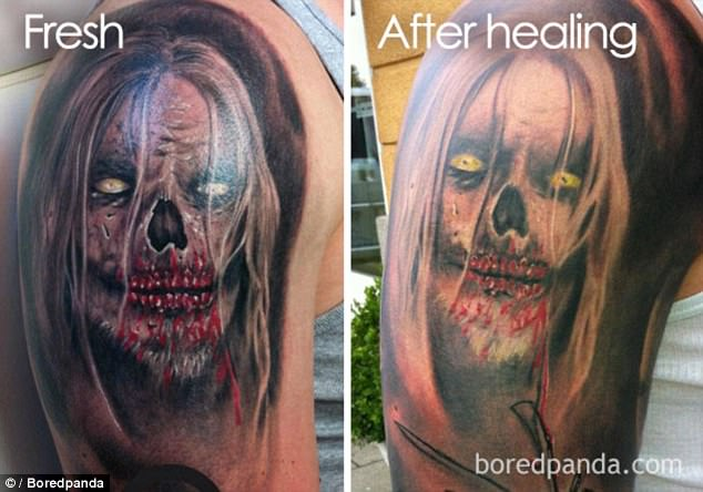 Boredpanda Users Show Tattoos Faded In Shocking Photos Ideas And Designs