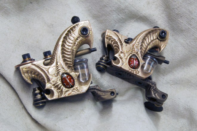 Cool Tattoo Machines From Aaron Cain Ideas And Designs