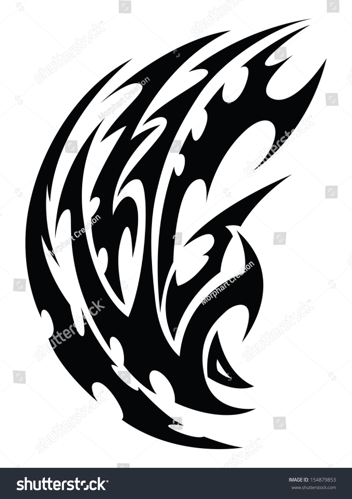 Abstract Tribal Tattoo Design Vintage Engraved Stock Ideas And Designs
