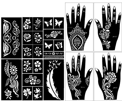 Stencils For Henna Tattoos 10 Sheets Self Adhesive Ideas And Designs