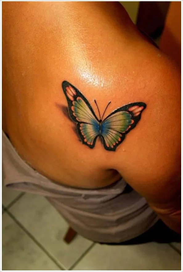 24 Inspiring 3D Butterfly Tattoos Designs Free Ideas And Designs