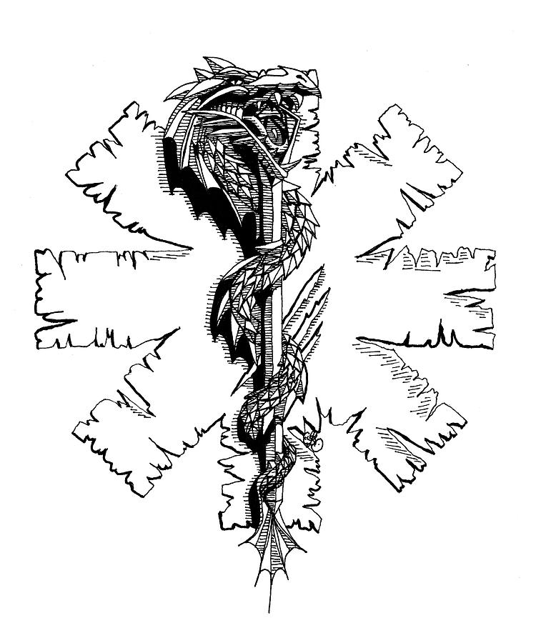 Rod Of Asclepius Drawing By Scarlett Royal Ideas And Designs