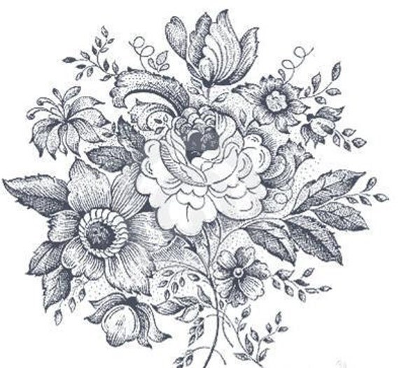 Vintage Black And White Floral Design Temporary By Pepperink Ideas And Designs
