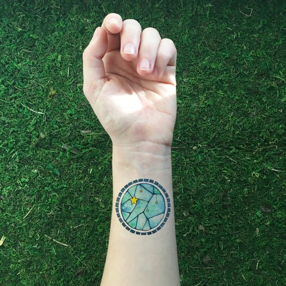 Stars And Sky Circular Temporary Tattoo By Naturetats On Etsy Ideas And Designs